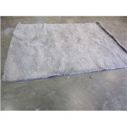 7FT GRAY SHAG AREA RUG