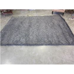 7FT DARK GRAY SHAG AREA RUG