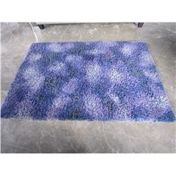 PURPLE SHAG AREA CARPET