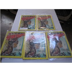 MARVEL GRAPHIC NOVEL HEARTBURST LOT OF 5 FROM 1984 HIGHLY COLLECTIBLE