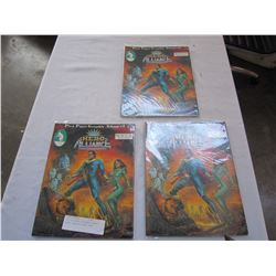 LOT OF 3 HERO ALLIANCE GRAPHIC NOVEL ISSUE #1 FROM 1986
