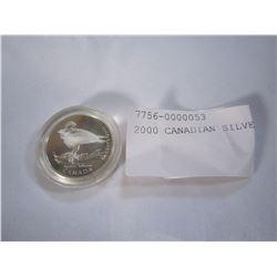 2000 CANADIAN SILVER QUARTER