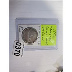 1952 CANADIAN SILVER DOLLAR .800