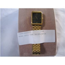 MENS GOLD TONE SEIKO WATCH
