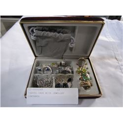 TRAVEL CASE WITH JEWELLRY CONTENTS