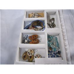 TRAY OF NATIVE JEWELERY