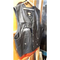 HARLEY DAVIDSON SIZE XXL LEATHER VEST