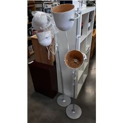 2 DOUBLE LIGHT FLOOR LAMPS