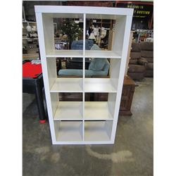WHITE CUBICAL SHELF
