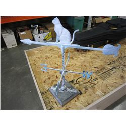 METAL WEATHER VANE ON STAND