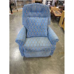 BLUE LAZY BOY RECLINER