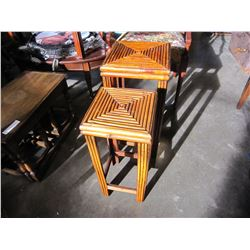 2 BAMBOO NESTING PLANT STAND