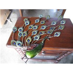PEACOCK METAL WALL HANGING