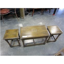 OAK NESTING COFFEE TABLE SET