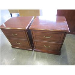 PAIR OF 2 DRAWER MARTINSVILLE NIGHT STANDSS