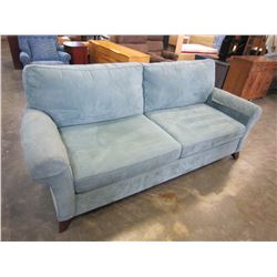 BLUE PILLOW BACK SOFA