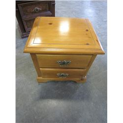 2 DRAWER PINE NIGHTSTAND