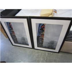 PAIR OF TOTEM POLE PRINTS