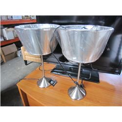 2 METAL ASHLEY DESIGN LAMPS