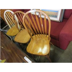 3 WOOD CHAIRS