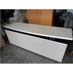 MODERN 6 DRAWER BLACK AND WHITE DRESSER
