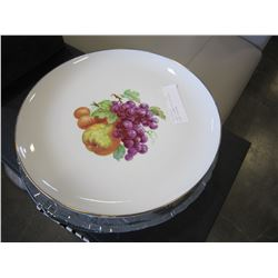 2 WEST GERMAN PLATTERS AND 2 GLASS PLATTERS