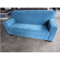 NEW ASHLEY BLUE FABRIC CUSTOM SOFA RETAIL $2000
