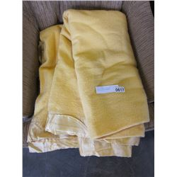 YELLOW KENWOOD TEXTILE PRODUCTS WOOL BLANKET
