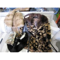 LOT OF FURS, COAT AND MINK STOLE