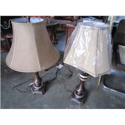 2 ASHLEY TABLE LAMPS, AS IS