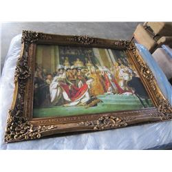 "47""X 60"" LARGE GOLD GUILDED FRAME RELIGIOUS SCENE"