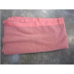 KENWOOD PURE WOOL PINK BLANKET