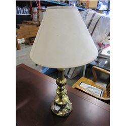 BRASS LAMP W/ SHADE