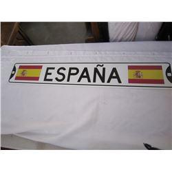 STEEL SPANISH 3FT LONG STREET SIGN