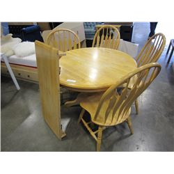 MAPLE DINING TABLE W/ LEAF AND 4 CHAIRS