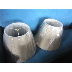 2 GOLD SCROLLED LAMP SHADES