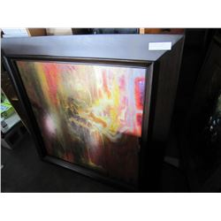 LARGE ABSTRACT PAINTING ON CANVAS AND LARGE PRINT