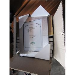 NINE 5X7 INCH PICTURE FRAMES
