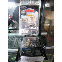 STAR WARS SAGA COLLECTION EMPIRE HAN SOLO AND BLACK SERIES LUKE SKY WALKER