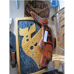 3 FIRST NATIONS CARVINGS ALL OF WHALES, ALL SIGNED