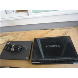 LOT OF 2 LOST PROPERTY LAPTOPS, TOSHIBA AND LENOVO WITH CORD