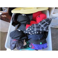 TOTE OF ASSORTED NEW HATS