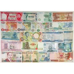 Assorted African Issuers. 1941-2006. Group of 53 Issued Notes.
