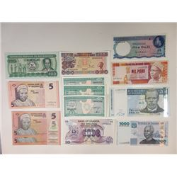Assorted African Issuers. 1960-2009. Group of 13 Issued Radar Notes.