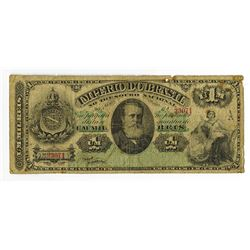 Imperio Do Brasil, Estampa 6A, ND, 1869-83 Banknote.