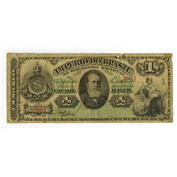 Imperio Do Brasil, Estampa 6A, ND, 1869-83 Banknote.