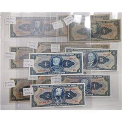 Tesouro Nacional. 1940s-1950s. Dozen Issued Notes.