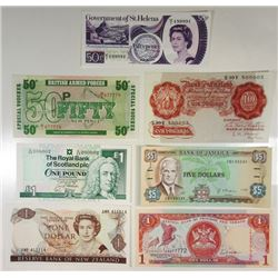 Various Issuers. 1960s-1990s. Group of 7 Issued Radar Notes.