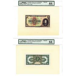 Banco de la Republica, ND (1928), 10 Pesos Oro Proof Banknote.