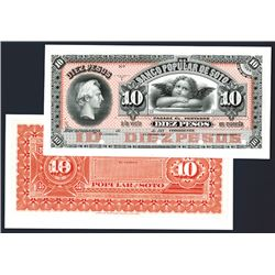 Banco Popular De Soto, 1880's Issue Proof Banknote.